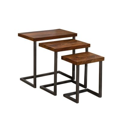 Emerson Natural Sheesham Nesting Tables (Set of 3)
