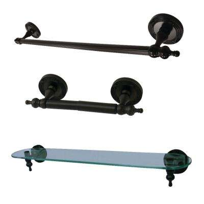 Traditional 3-Piece Bath Hardware Set in Oil Rubbed Bronze