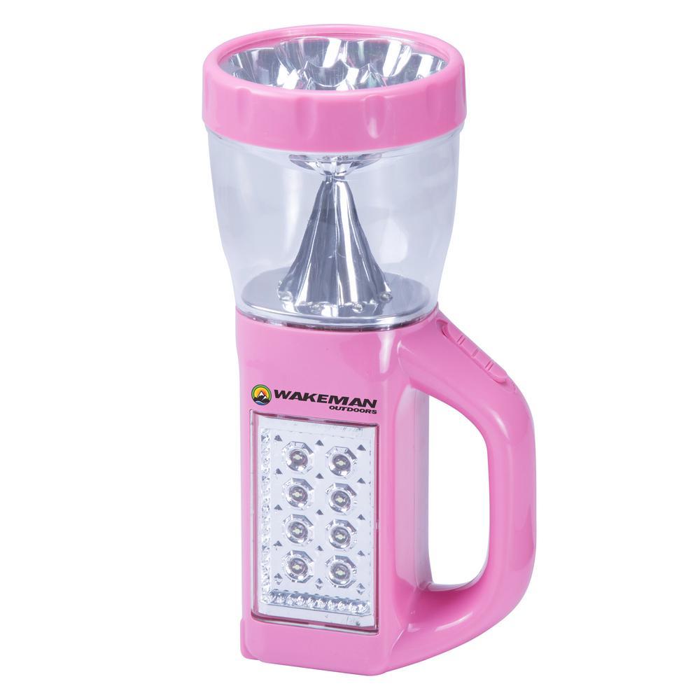 3-in-1 LED Camping Lantern in Pink