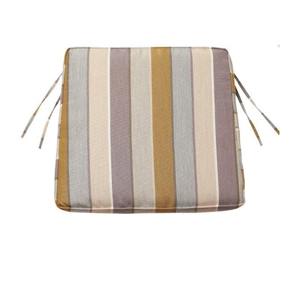 Home Decorators Collection Milano Dawn Sunbrella 20.5 in. x 18 in. Trapezoid Box-Edge Outdoor Chair Cushion