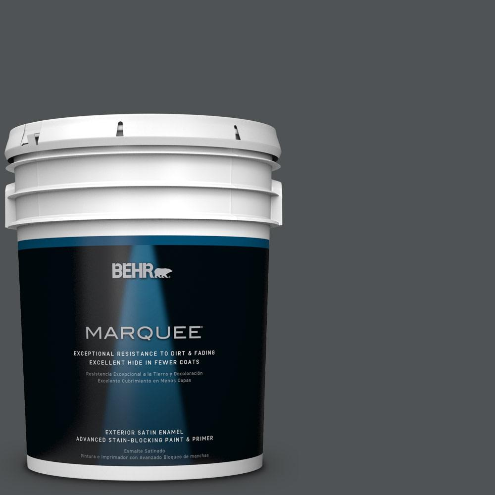 5 gal. #PPU25-01 Carbon Copy Satin Enamel Exterior Paint