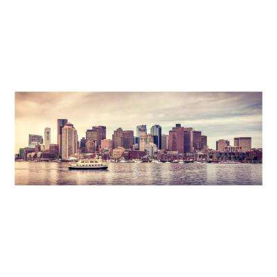 "24 in. x 63 in. ""City Harbor"" Tempered Glass Wall Art"