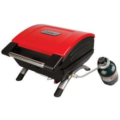 1-Burner Portable Table Top Propane Gas Grill in Red