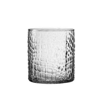 Bistro 12.84 oz. 380 ml Croc Clear 4-Piece Old Fashion Glasses Set