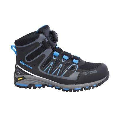 Fjell Mid Boa Men Size 11 Black/Blue Nylon Composite Toe Work Boot