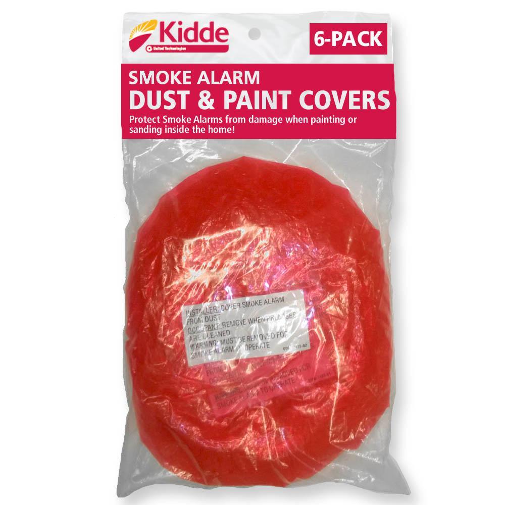 6-Pack Kidde Smoke and Carbon Monoxide Alarm Dust Paint Cover Protect Sensor
