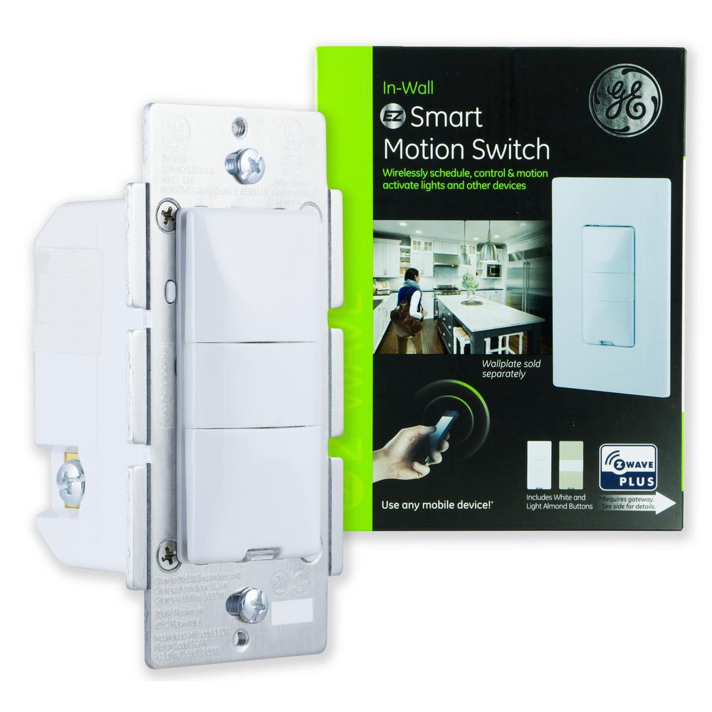 GE Z-Wave Plus Wireless Smart Lighting Control Motion Switch