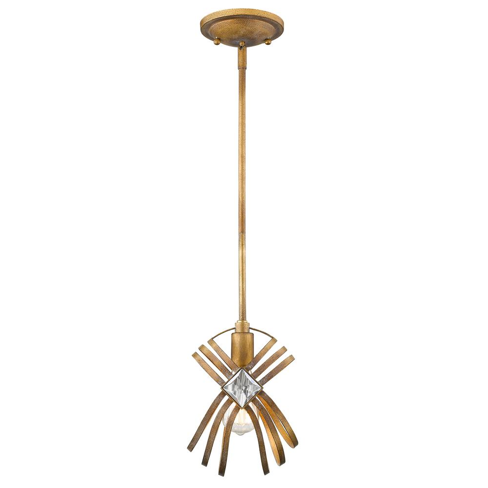 Signet 1-Light Royal Gold Pendant Light
