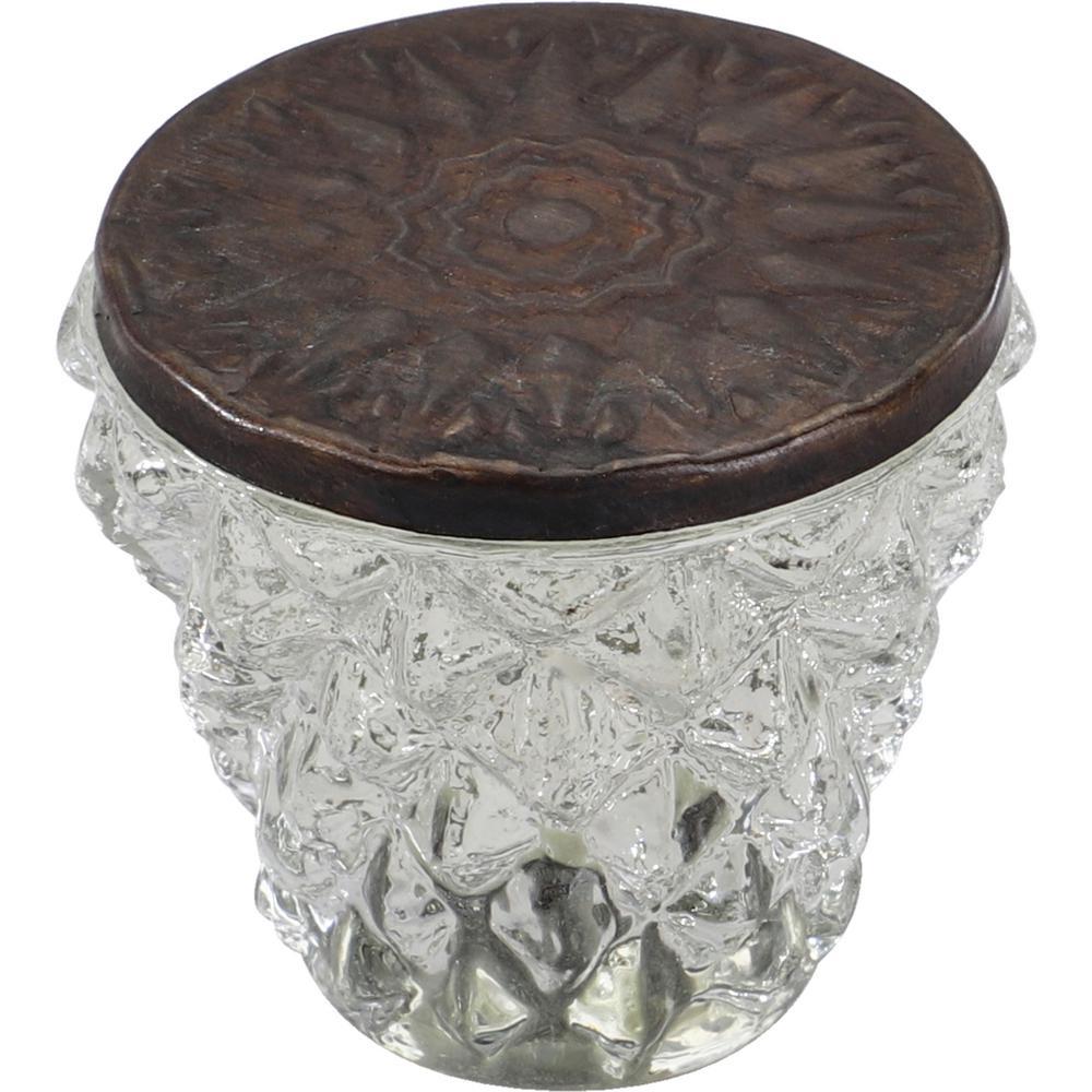 Diamond Cut 1-1/2 in. Clear Bronze Head Cabinet Knob