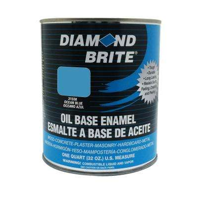 1 qt. Ocean Blue Oil Base Enamel Interior/Exterior Paint
