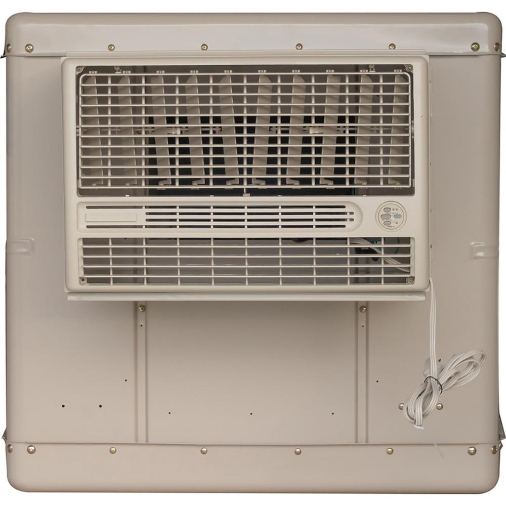 Champion Cooler 3300 CFM 2-Speed Window Evaporative Cooler for 900 sq. ft. (with Motor and Remote Control)