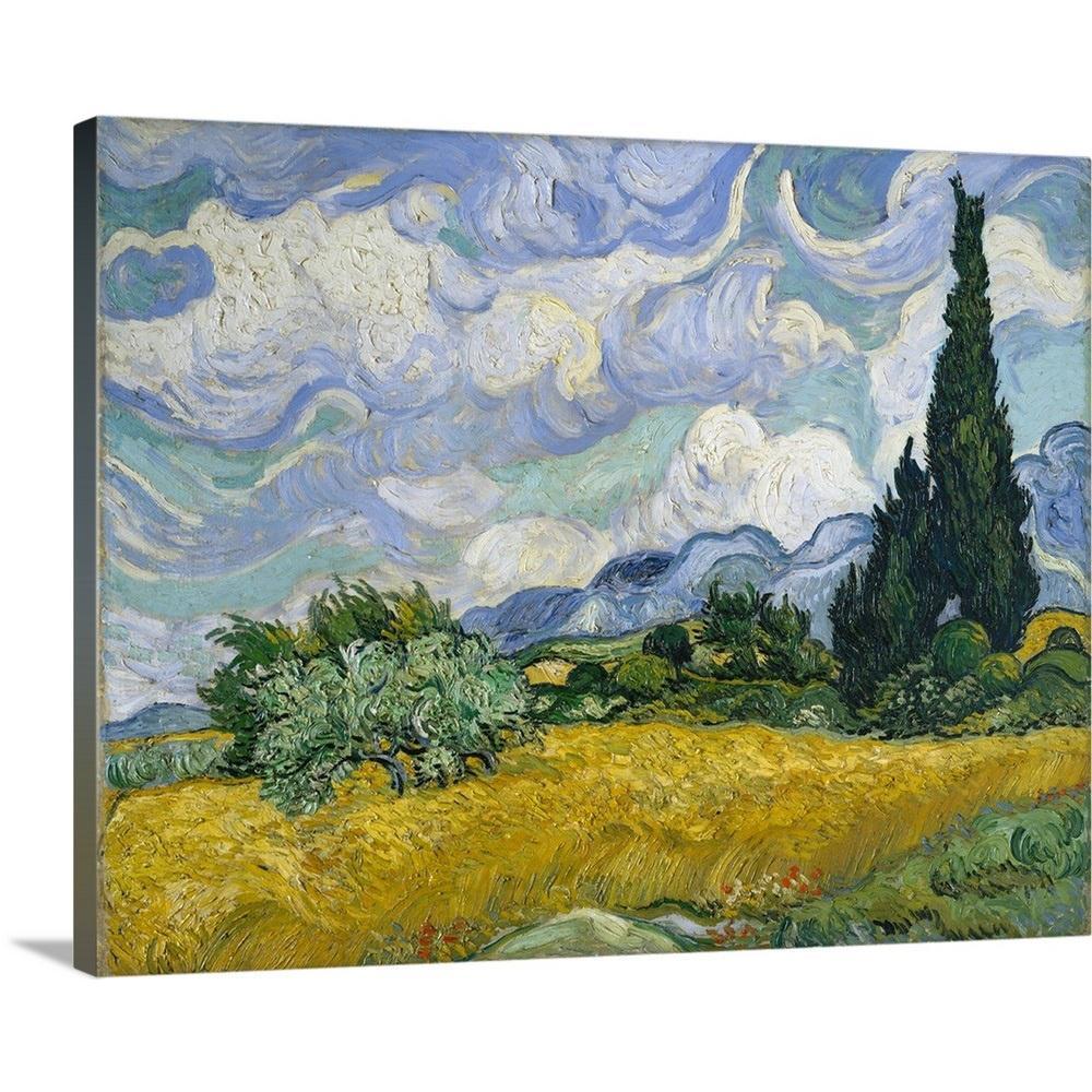 Wheatfield with Cypresses Vincent van Gogh Modern Canvas Art