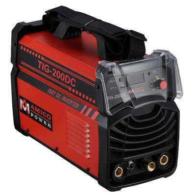 Amico 200 Amp TIG Torch arc Stick DC Inverter Welder 110/230-Volt Dual Voltage Welding Machine