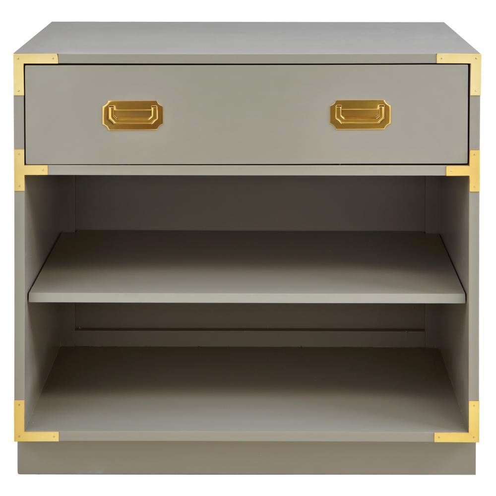 Is Taupe Grey: Home Decorators Collection Chatham 1-Drawer Taupe Grey