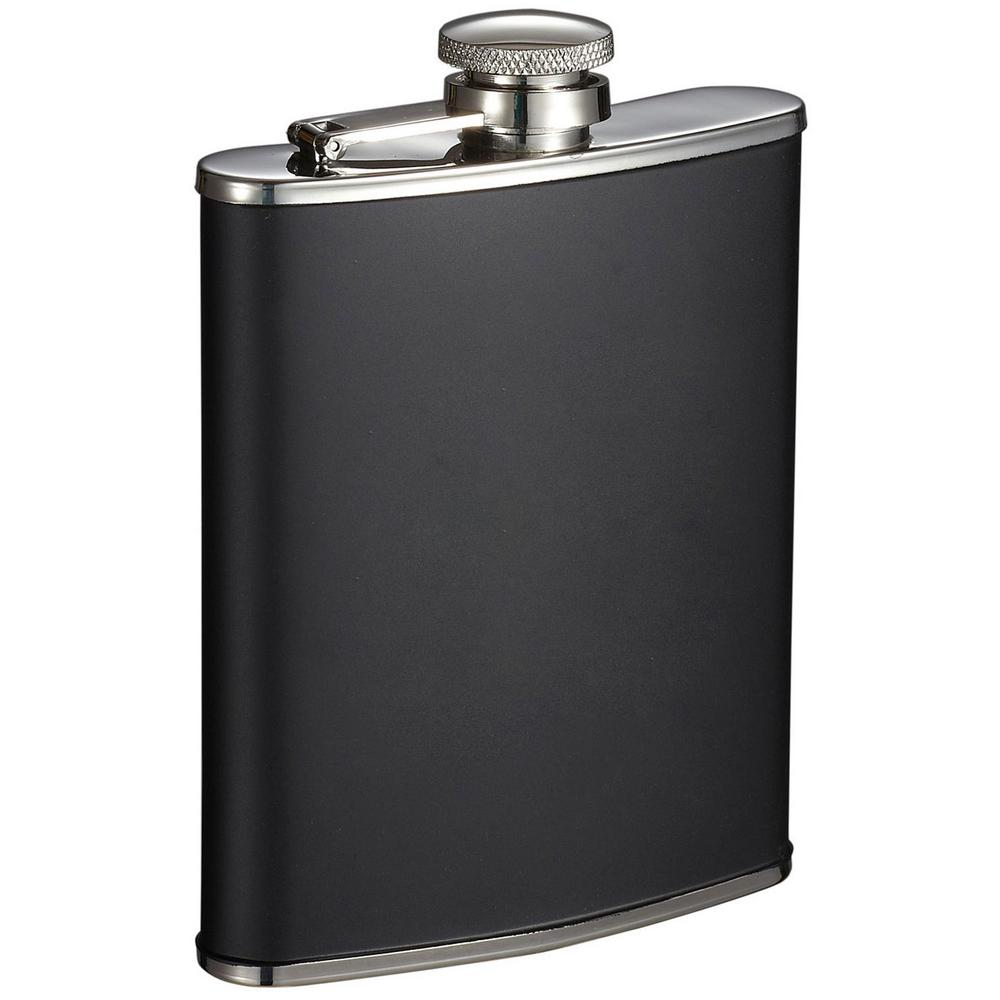 6 oz. Marcel Black Matte Liquor Flask
