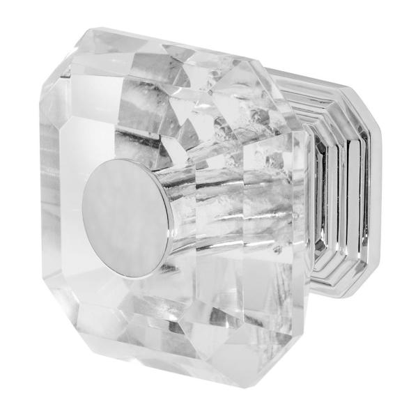 Clubhouse 1-5/16 in. Chrome with Clear Crystal Cabinet Knob