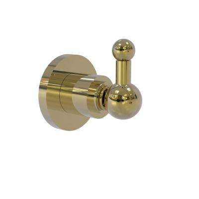 Astor Place Collection Wall-Mount Robe Hook in Unlacquered Brass