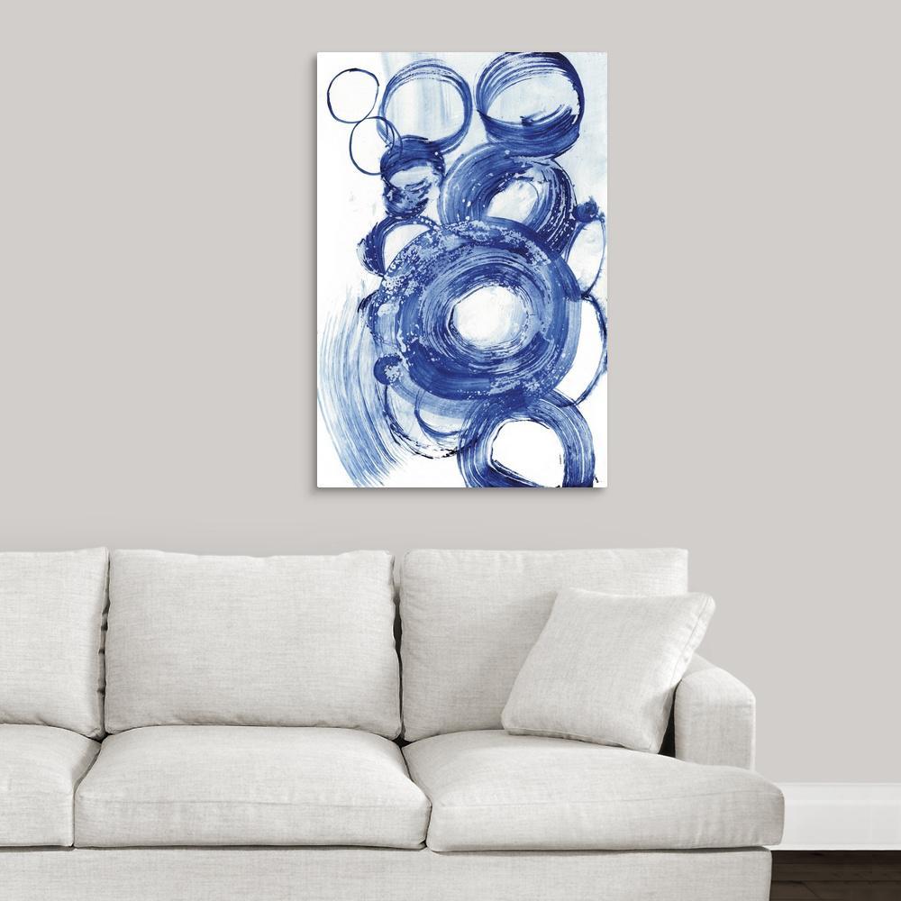 """""""Blue Circle Study II"""" by Jodi Fuchs Canvas Wall Art"""