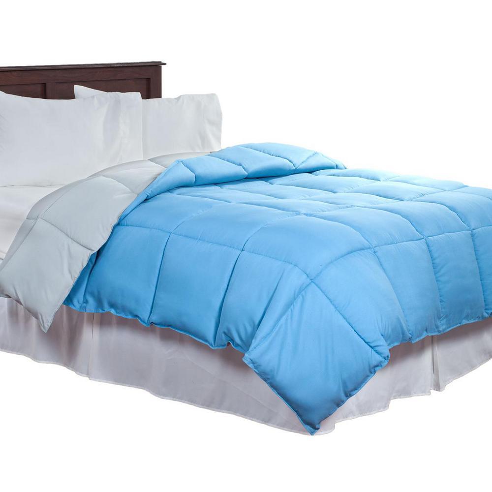 Lavish Home Reversible Blue/Grey Down Alternative Twin Comforter 64-14-T-BG