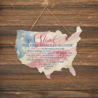 Cindy Jacobs I Stand Wood Picket Fence Decorative Sign