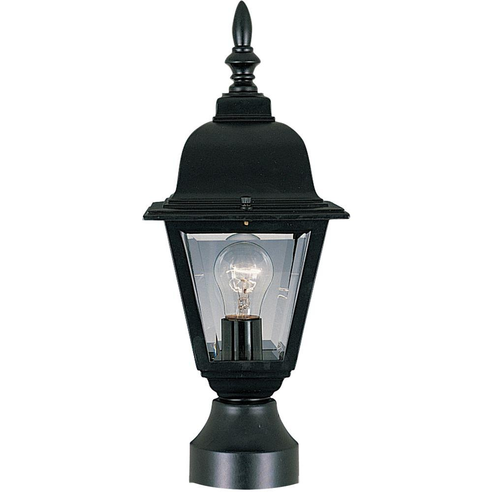 Maxim Lighting Builder Cast 1-Light Black Outdoor Pole/Post Mount