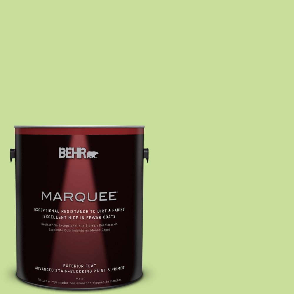 BEHR MARQUEE 1-gal. #420A-3 Key Lime Flat Exterior Paint