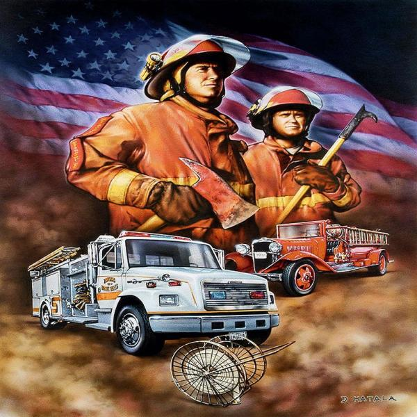 Firefighter Multi-Colored Throw 5291-T