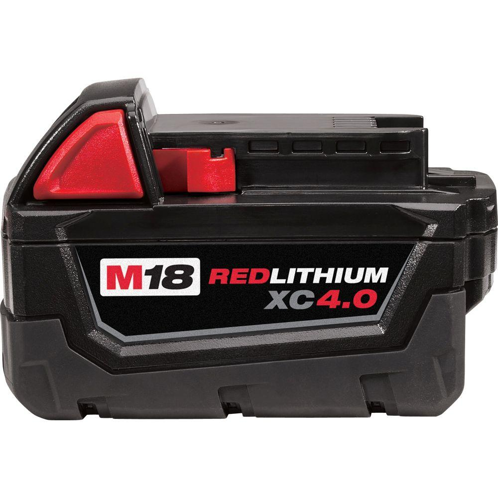 Milwaukee M18 18-Volt Lithium-Ion XC Extended Capacity Battery Pack 4.0Ah