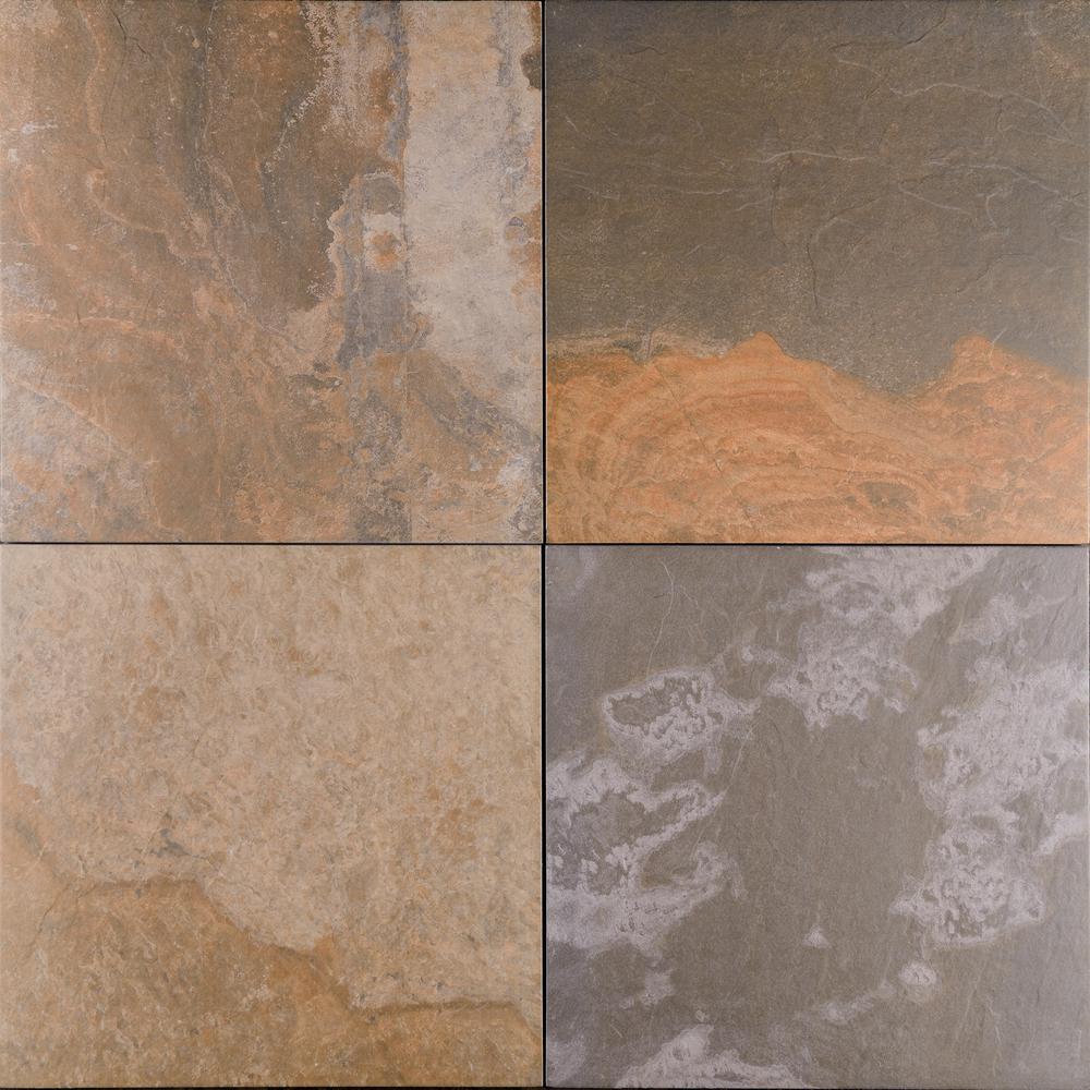 Mystique Multicolor 24 in. x 24 in. Matte Porcelain Paver Floor Tile (14 pieces / 56 sq. ft. / pallet)