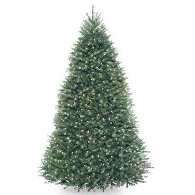 9 ft. Dunhill Blue Fir Hinged Tree with Clear Lights