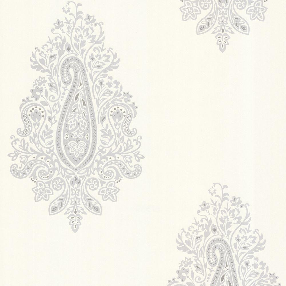 Beacon House Dynasty Light Grey Paisley Wallpaper