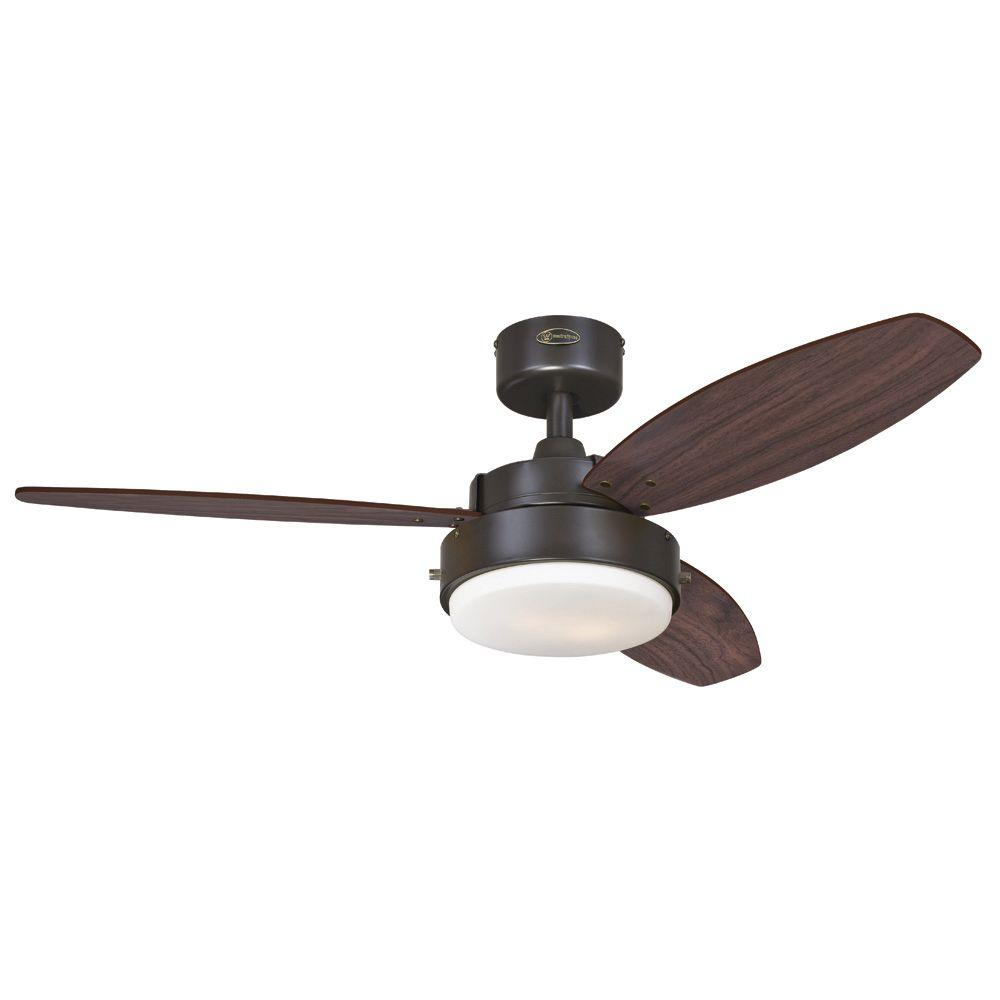 Hugger 52 in. LED Indoor Brushed Nickel Ceiling Fan with Light Kit ...
