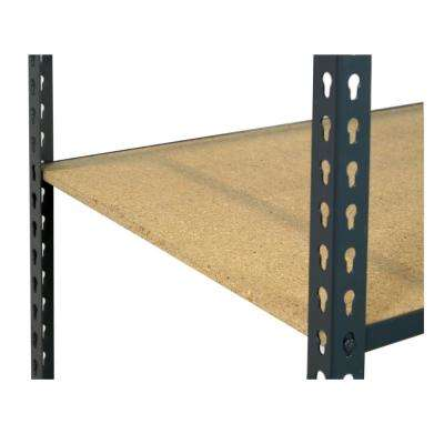 1 in. H x 36 in. W x 24 in. D Extra Shelf for Steel Boltless Shelving with Low Profile and Particle Board Decking