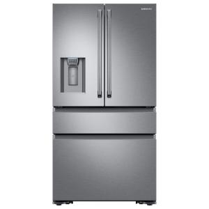 Samsung 22.6 cu. ft. 4-Door French Door Refrigerator with Polygon Handle in Stainless Steel, Counter Depth by Samsung