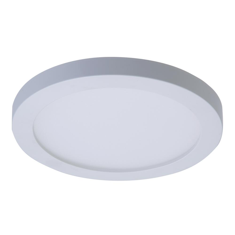 SMD 4 in. White Integrated LED Recessed Round Surface Mount Ceiling