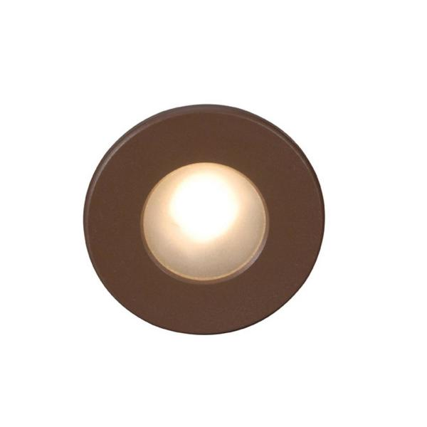 4-Watt Line Voltage 3000K Bronze Integrated LED Full Round Wall or Stair Light