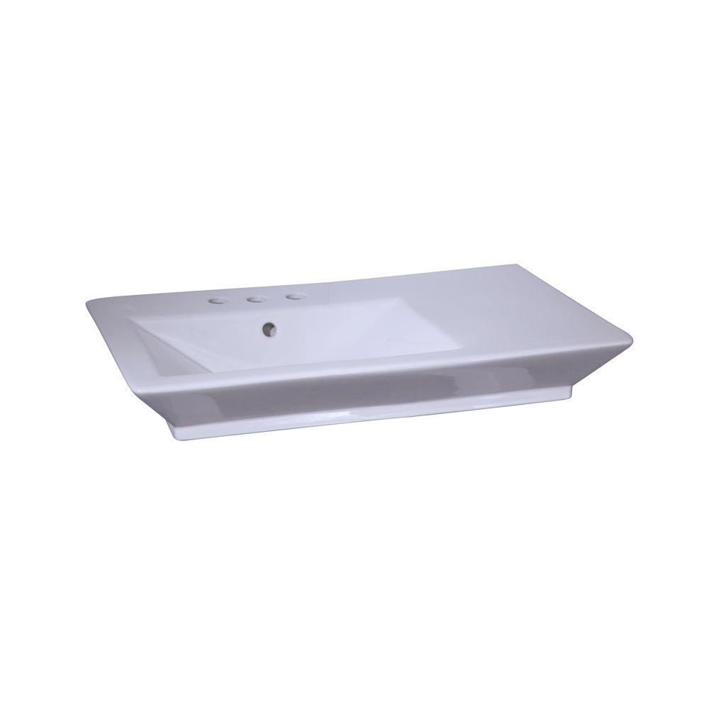 Barclay Products Aristocrat 19-3/8 in. Console Sink Basin in White