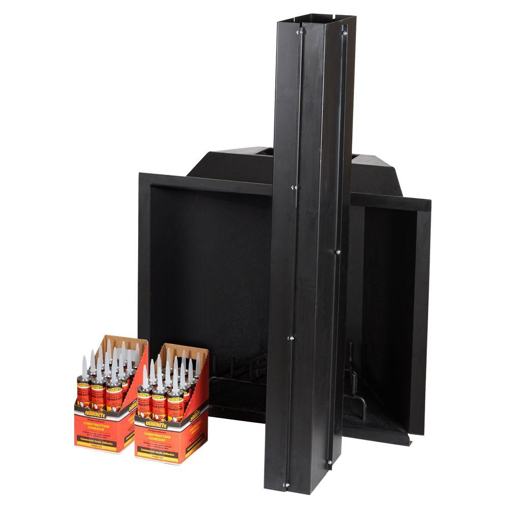 The Pavestone 35 in. Outdoor Fireplace Insert Kit is specially designed to burn wood logs. It comes with assembled dimensions of 36 in. d x 40 in. w x 60 in. h. It offers perfect solution to your outdoor living space.
