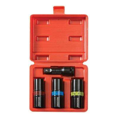 1/2 in. Drive Impact Flip Socket Set (4-Piece)