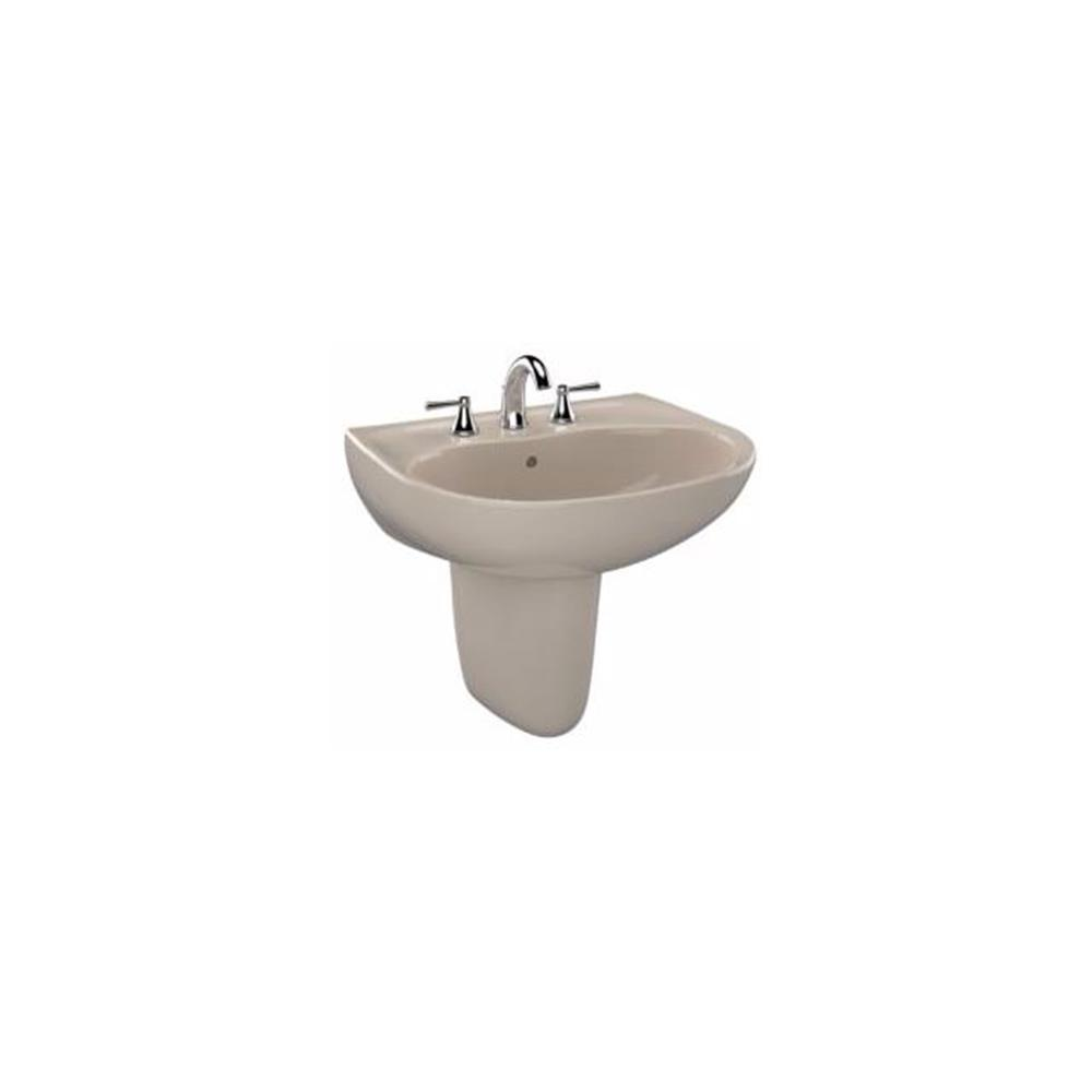 TOTO Prominence 26 In. Wall Mount Bathroom Sink Combo With Single Faucet  Hole In