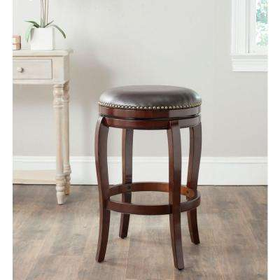 Nuncio 29 in. Sierra Brown Swivel Cushioned Bar Stool