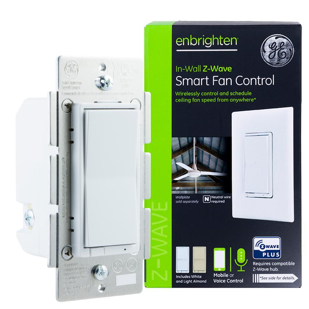 Enbrighten Z-Wave Plus In-Wall Smart Fan Control