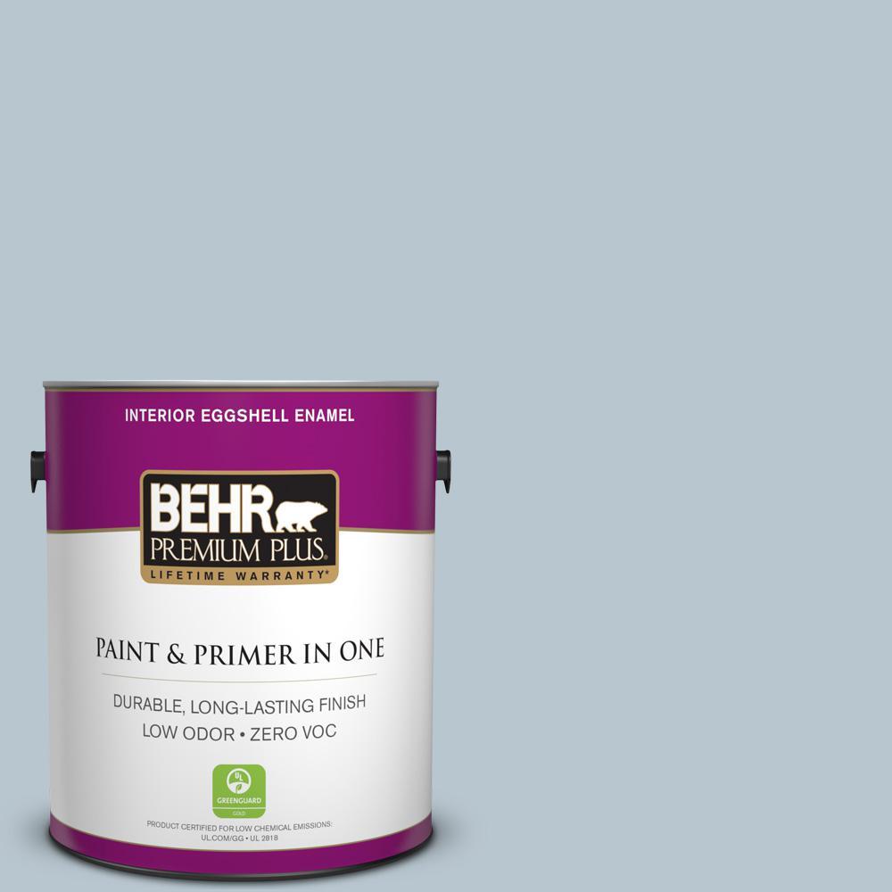 BEHR Premium Plus 1-gal. #560E-3 Silver Strand Zero VOC Eggshell Enamel Interior Paint