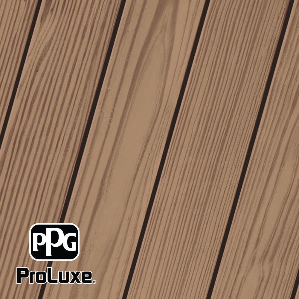 PPG ProLuxe 1 gal. #HDG-ST-156 Cedar SRD Exterior Semi-Transparent Matte Wood Finish