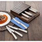 Cangshan S1 Series German Steel Forged 8-Piece Steak Knife Set with Solid Walnut Wood Block