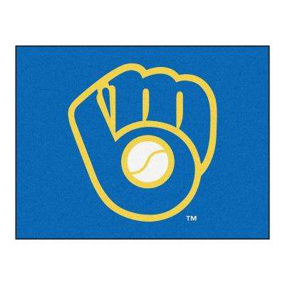 MLB Milwaukee Brewers Blue 3 ft. x 4 ft. Area Rug