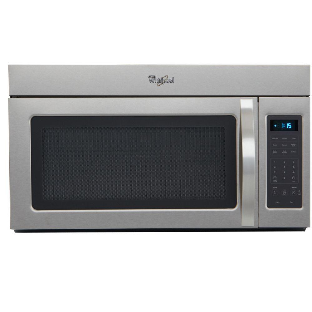 Whirlpool Over Oven Microwave: Whirlpool 1.7 Cu. Ft. Over The Range Microwave In