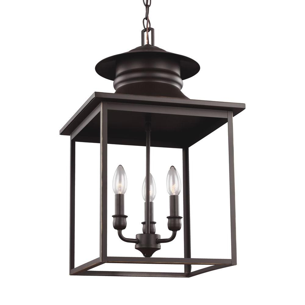 seagull pendant lighting. Sea Gull Lighting Huntsville 3-Light Heirloom Bronze Hall-Foyer Pendant Seagull G