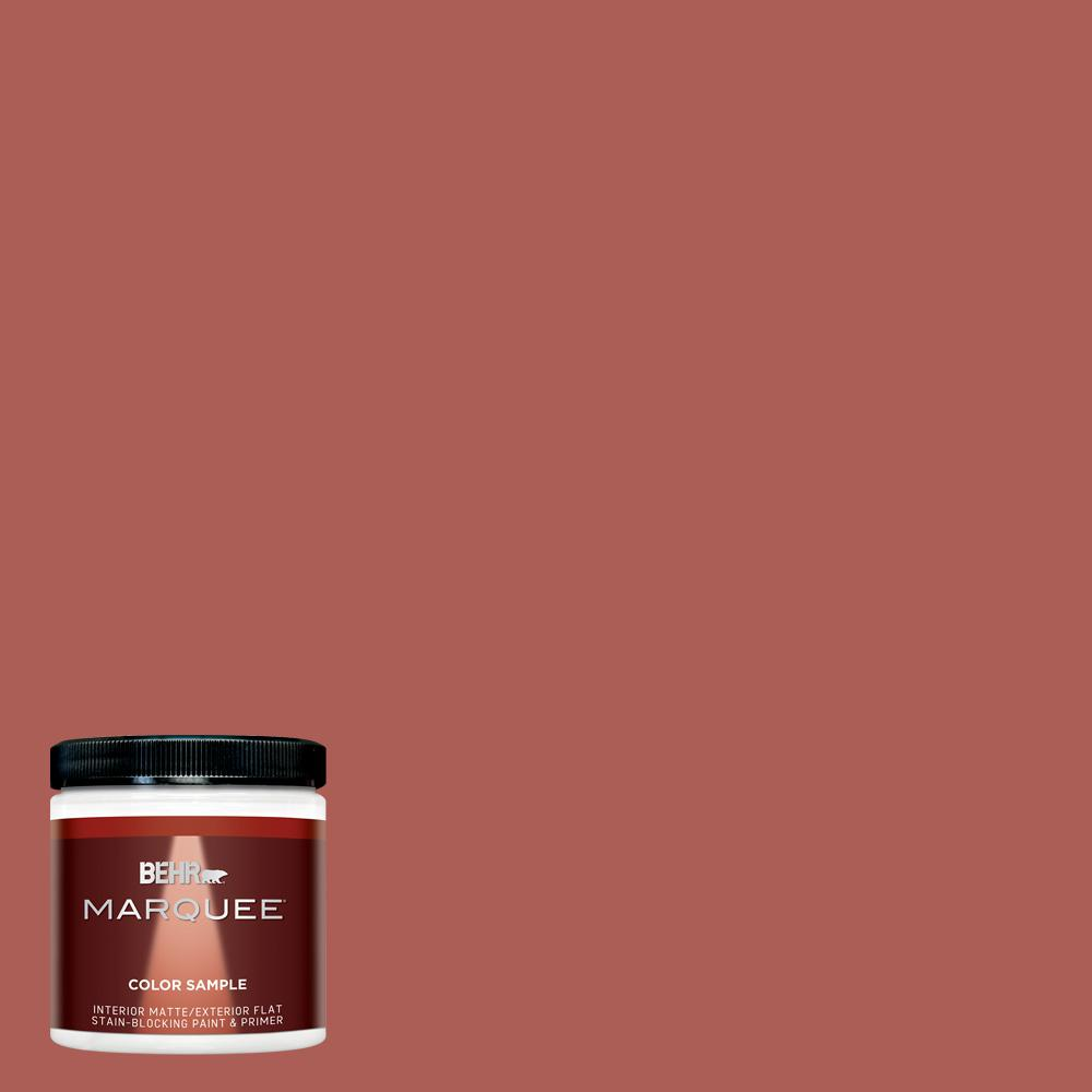 8 oz. #T12-1 Prairie Poppy Matte Interior/Exterior Paint Sample