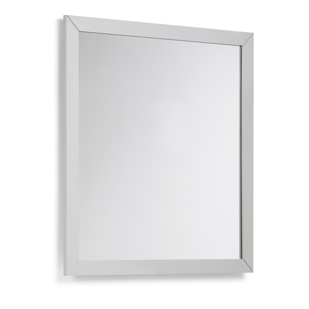 Vanity Mirror.Simpli Home Chelsea 32 In X 34 In Bath Vanity Decor Mirror In Warm Grey